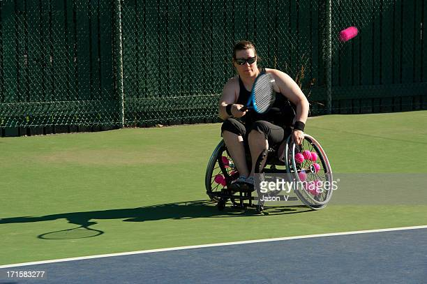 Athlete playing Wheelchair Tennis