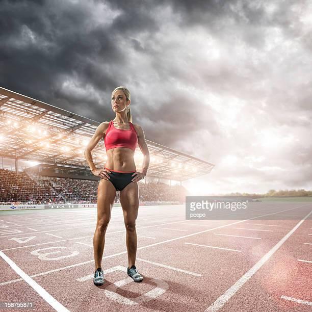 Athlete Prepares to Race