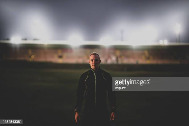 athlete psyched before competition - famous footballers silhouette stock pictures, royalty-free photos & images