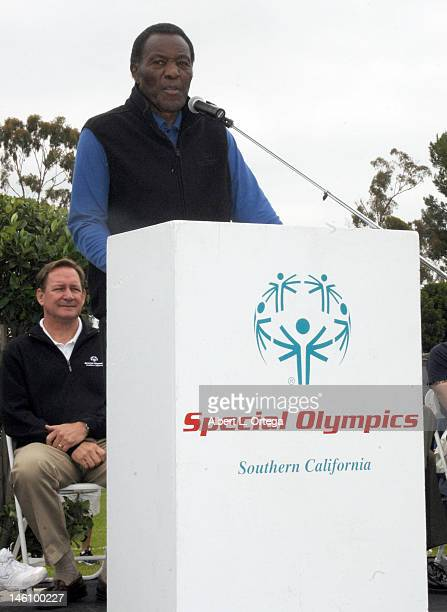 Athlete Rafer Johnson participates in the 2012 Special Olympics Summer Games day 1 held at California State University Long Beach on June 9 2012 in...