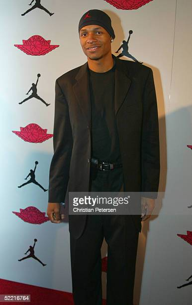 NBA athlete Ray Allen of the Seattle SuperSonics arrives at the Air Jordan XX Launch Party at Rise Nightclub on February 18 2005 in Denver Colorado