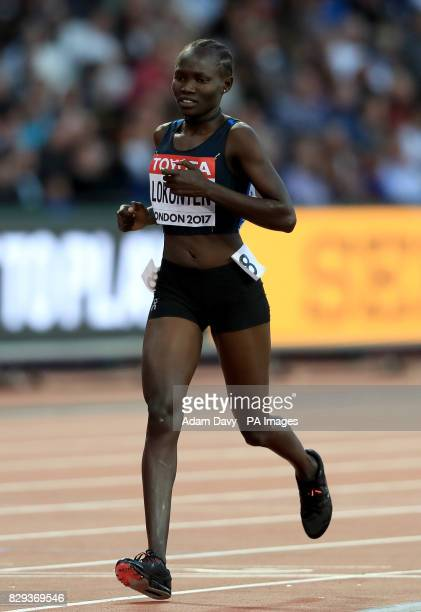 Athlete Refugee Team's Rose Lokonyen competes in the Women's 800m heats during day seven of the 2017 IAAF World Championships at the London Stadium.