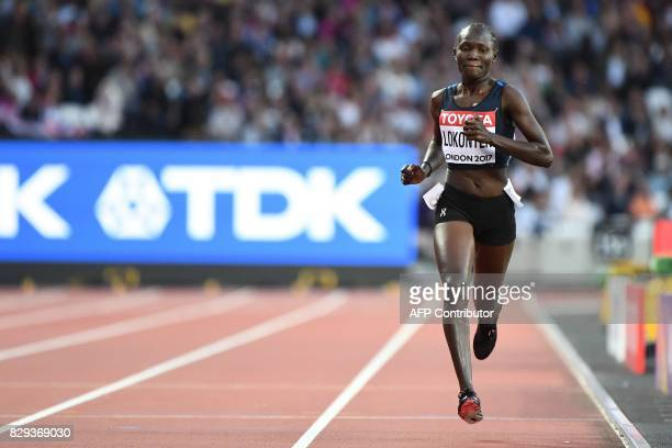 Athlete Refugee Team's Rose Nathike Lokonyen competes in the women's 800m athletics event at the 2017 IAAF World Championships at the London Stadium...