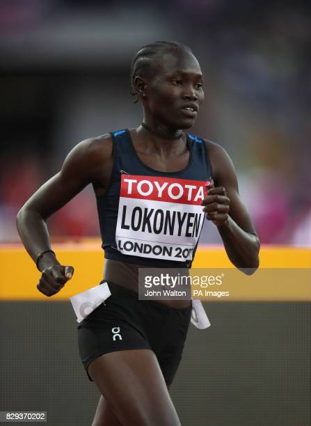 Athlete Refugee Team's Rose Nathike Lokonyen in action during the Women's 800m heat Six during day seven of the 2017 IAAF World Championships at the...