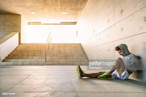 Sportler sich nach einem intensiven Training