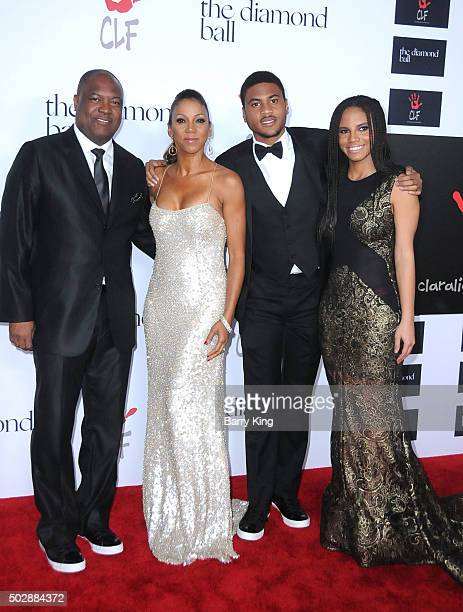 Athlete Rodney Peete actress Holly Robinson Peete and family attend the Rihanna And The Clara Lionel Foundation 2nd Annual Diamond Ball at The Barker...