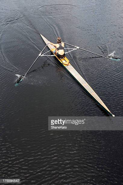 Athlete Rowing and Sculling
