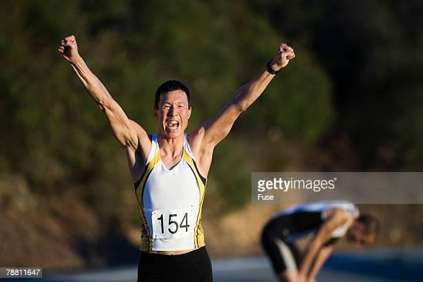 Athlete Running in a Triathlon