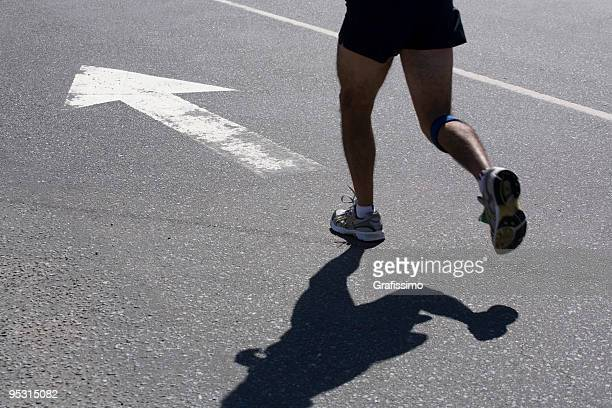 Athlete running in the city