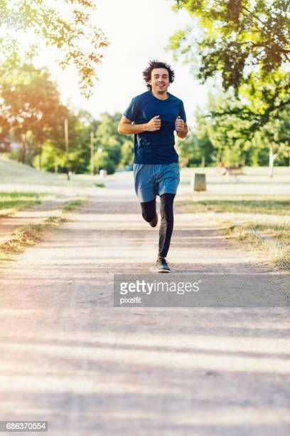 Athlete running in the park