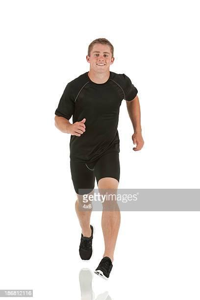 Athlet läuft