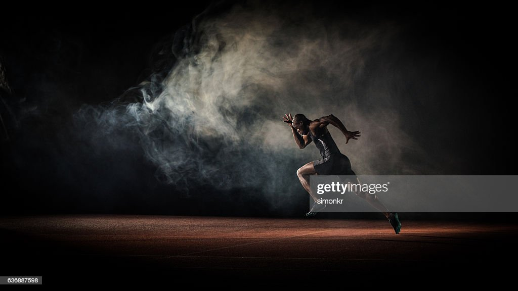 Athlete running : Stockfoto