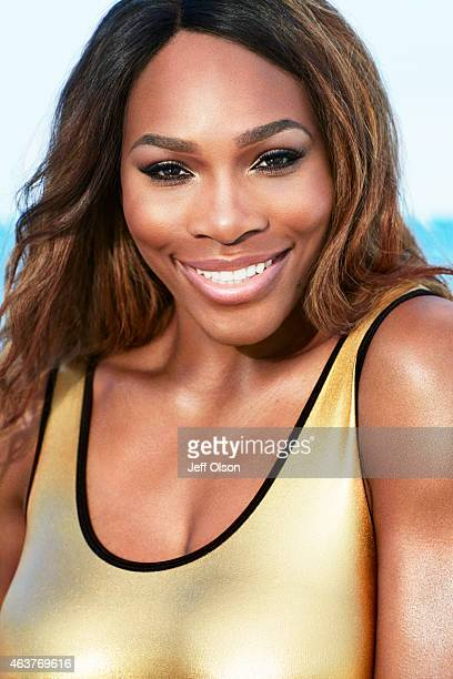 Athlete Serena Williams is photographed for Fitness Magazine in August 2012 in West Palm Beach Florida