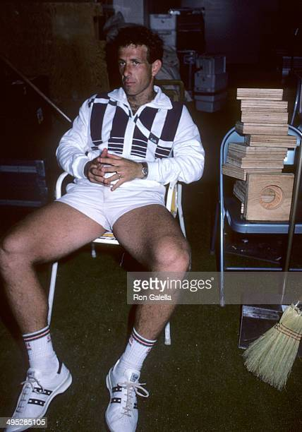 Athlete Shlomo Glickstein attends the 1985 US Tennis Open Men's First Round John McEnroe vs Shlomo Glickstein on August 27 1985 at USTA National...