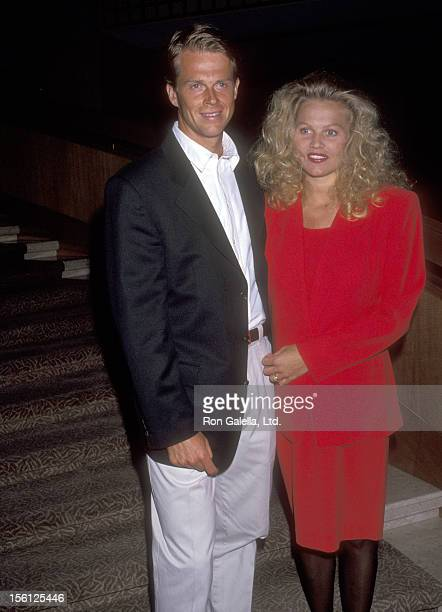 Athlete Stefan Edberg and wife Annette Olsen attend the Association of Tennis Professionals Tour Awards Gala on March 5 1993 at the Stouffer...
