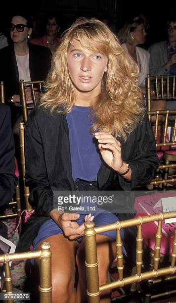 Athlete Steffi Graf attends Paris Haute Couture Fashion Show on September 5, 1990 at the Plaza Hotel in New York City.
