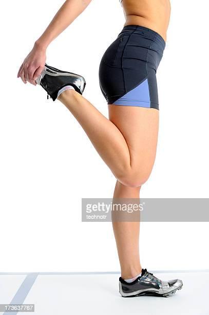 Athlete streching