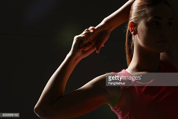 athlete stretching - medalist stock pictures, royalty-free photos & images