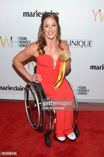 Athlete Tatyana McFadden attends the 1st annual Marie Claire Young Women's Honors at Marina del Rey Marriott on November 19 2016 in Marina del Rey...