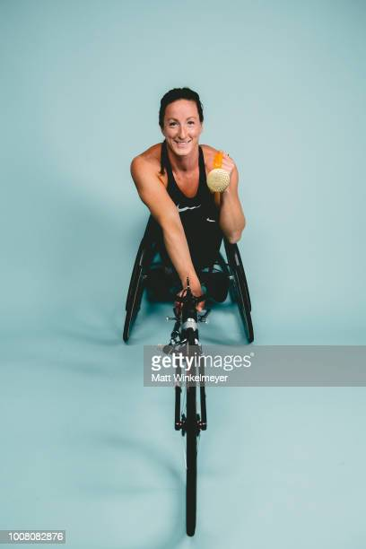 Athlete Tatyana McFadden poses for portraits on July 23 2018 in Los Angeles California