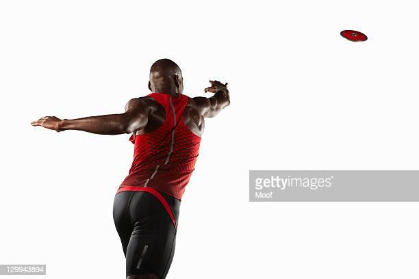 Athlete throwing discus