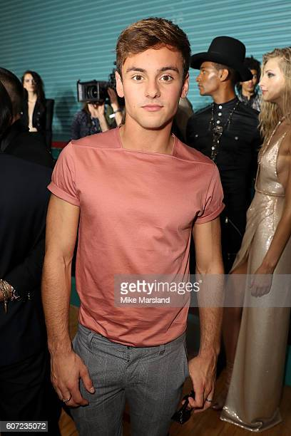 Athlete Tom Daley attends the Julien Macdonald show during London Fashion Week Spring/Summer collections 2016/2017 on September 17 2016 in London...