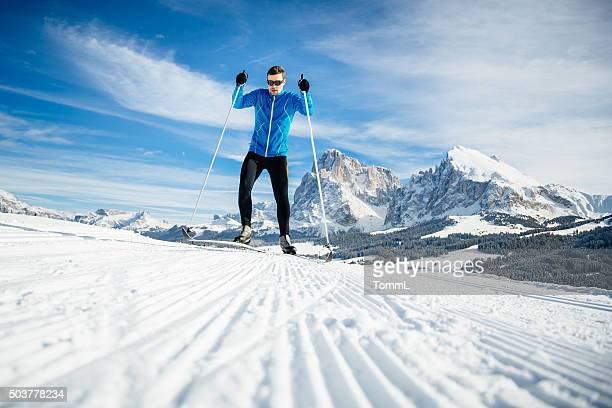 Athlete Training Cross Country Skiing
