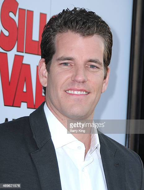 Athlete Tyler Winklevoss attends the HBO 'Silicon Valley' season 2 premiere at the El Capitan Theatre on April 2 2015 in Hollywood California