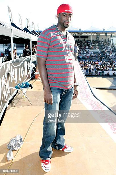 Athlete Tyreke Evans at the Maloof Money Cup on August 7 2010 in Costa Mesa California