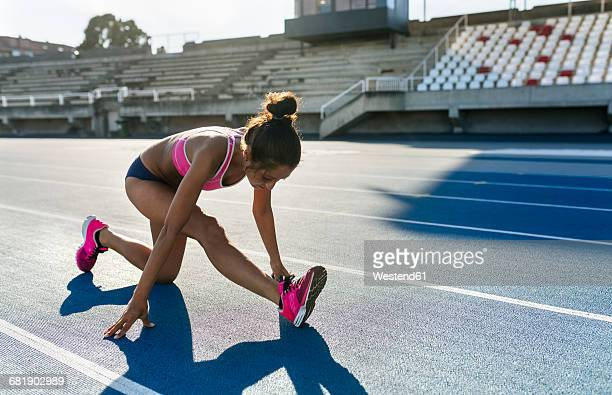 athlete warming up for training - warm up exercise stock pictures, royalty-free photos & images