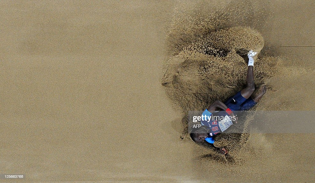 US athlete Will Claye competes in the men's long jump final at the International Association of Athletics Federations (IAAF) World Championships in Daegu on September 2, 2011.