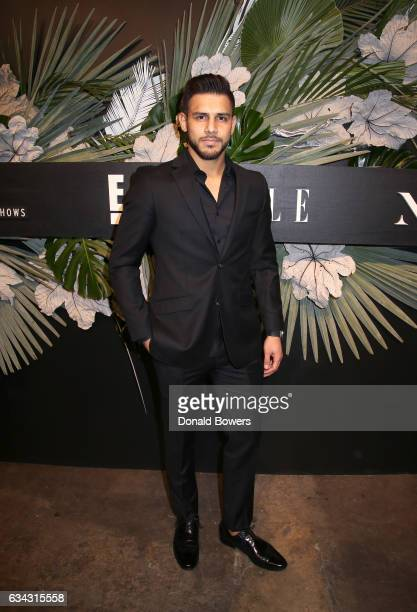 Athlete Yair Rodriguez attends E ELLE IMG celebration to kickoff NYFW The Shows on February 8 2017 in New York City