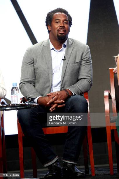 Athlete/investor Dhani Jones of 'Adventure Capitalists' speaks onstage during the NBCUniversal portion of the 2017 Summer Television Critics...