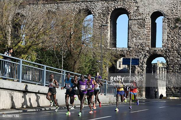 Athletes and thousands of people take part in the 38th Vodafone Istanbul Marathon, the worlds only road race where people can run from Asia to...