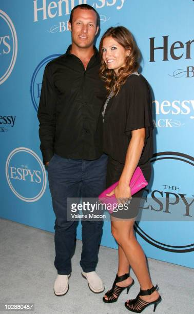 Athletes Askel Svindal and Julia Mancuso arrive at the Fat Tuesday PreESPYs Party at Boulevard3 on July 13 2010 in Hollywood California