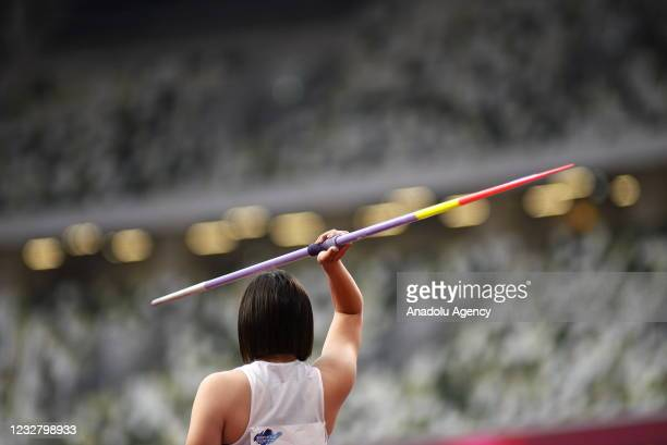 Athletes attend test event at Olympic Stadium ahead of Tokyo Olympics which will be held between July 23 to August 8 in Tokyo, Japan on May 09, 2021.