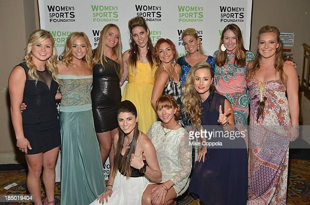Athletes attend the 34th annual Salute to Women In Sports Awards at Cipriani Wall Street on October 16 2013 in New York City