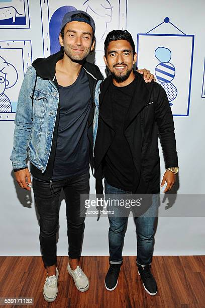 Athletes Baggio Husidic and A J DeLaGarza attend Casper's Venice Summer House Opening Event on June 9 2016 in Los Angeles California
