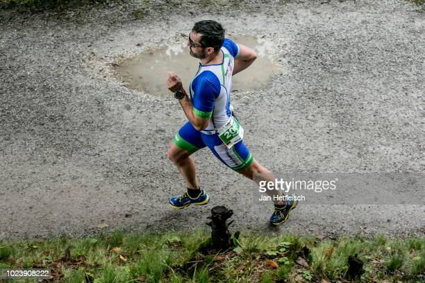 Athletes compete at the run leg during the IRONMAN 703 Zell Am See on August 25 2018 in Zell am See Austria