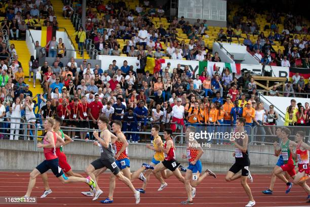 Athletes compete during 1500m Men Final on July 20, 2019 in Boras, Sweden.