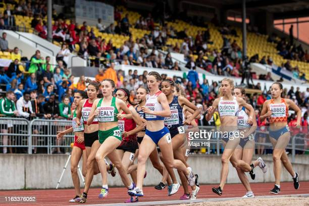 Athletes compete during 1500m Women Final on July 21, 2019 in Boras, Sweden.
