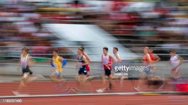 Athletes compete during 3000m Men Final on July 20, 2019 in Boras, Sweden.