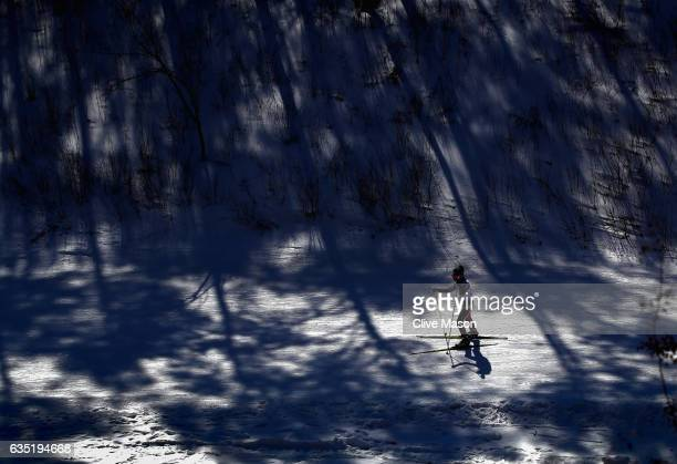 Athletes compete during a youth event held at the Alpensia Cross Country Centre on February 14 2017 in Pyeongchanggun South Korea