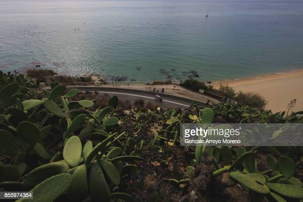 Athletes compete during biking course of the IRONMAN Barcelona on September 30 2017 in Barcelona province Spain