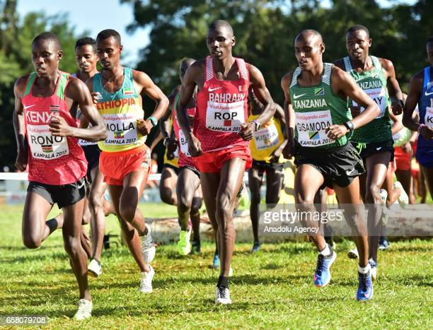 Athletes compete during the 27th World Cross Country Championships organized by International Association of Athletics Federations at Kololo pitch in...