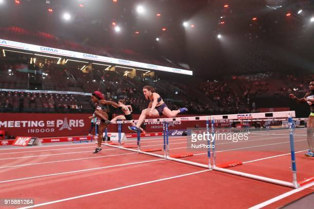 Athletes compete during the Athletics Indoor Meeting of Paris 2018 at AccorHotels Arena in Paris France on February 7 2018