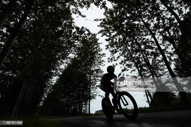 Athletes compete during the biking course of the Ironman Copenhagen on August 18, 2019 in Copenhagen, Denmark.