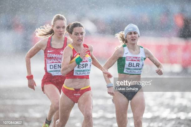 Athletes compete during the Mixed Realy race of the SPAR European Cross Country Championships on December 9 2018 in Tilburg Netherlands