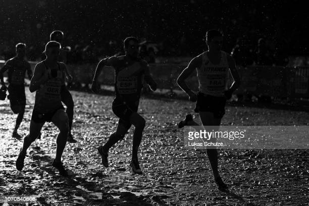 Athletes compete during the Mixed Relay race of the SPAR European Cross Country Championships on December 9 2018 in Tilburg Netherlands