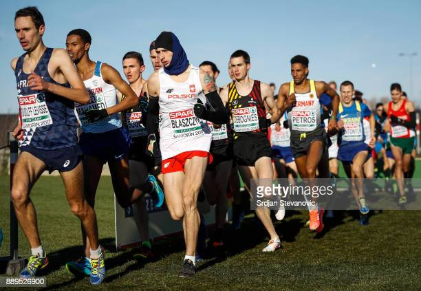 Athletes compete during the U23 Men's race of SPAR European Cross Country Championships on December 10 2017 in Samorin Slovakia